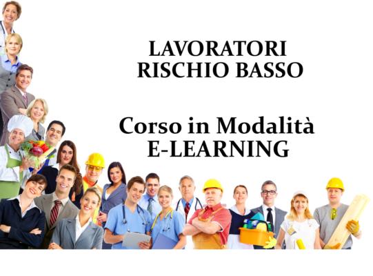 Online Elearning Rischio Basso Lavoratori