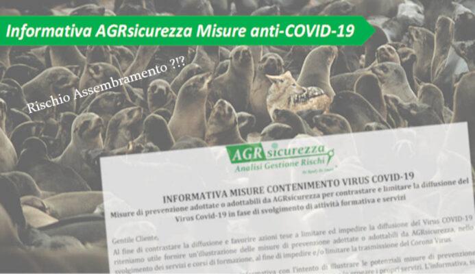 Misure Contenimento Covid AGRsicurezza Ancona